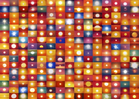 Penelope Umbrico -  541,795 Suns from Sunsets from Flickr (Partial) 01/23/06 (detail), 2006  | Art Basel 2020 | Bruce Silverstein Gallery
