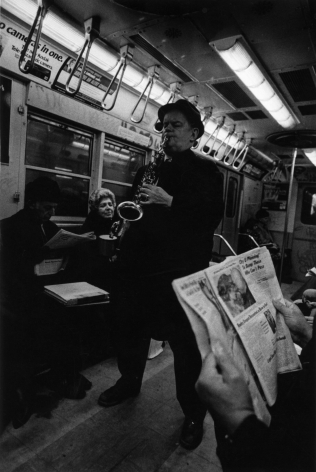 Louis Draper ; Saxophone Player on Subway, New York, c. 1970 ; Bruce Silverstein Gallery