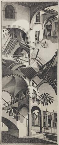 M.C. Escher -  Up and Down, 1947  | Art Basel 2020 | Bruce Silverstein Gallery