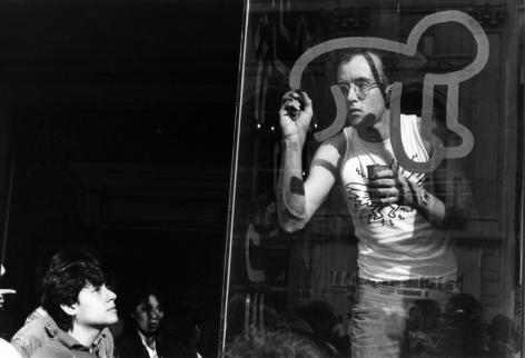 Bill Cunningham; Keith Haring, 5th Avenue Book Fair, 1984 Gelatin silver print, printed c. 1984 8 x 10 in. ; Bruce Silverstein Gallery