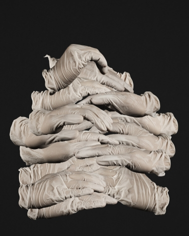 Masood Kamandy Latex Hands, 2013 C-print  45 x 36 in.