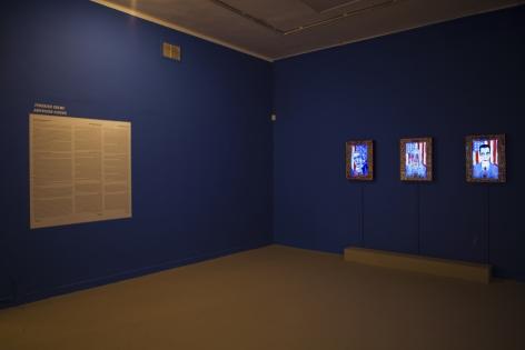 Installation image of Federico Solmi: American Circus