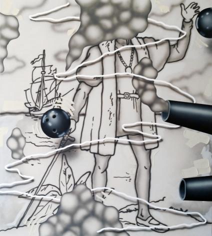 Josh Reames Columbo 2, 2016 Acrylic on canvas  60 x 54 in.