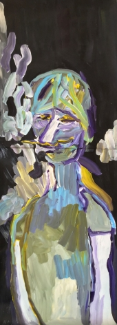 Edie Beaucage Bixby Chumbly, 2016  Acrylic on paper 48 x 18 in.