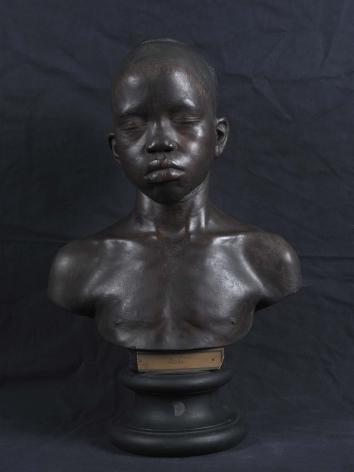 Ken Gonzales-Day Untitled (buste d'un jeune home, Arigi Dunka, ne au Nil Blanc, MNHN-HA-1539, National Museum of Natural History, Paris), 2010-12 LightJet print on aluminum 30 x 20 in.