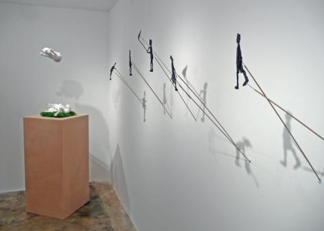 Installation View of Joe Dark Shadow Theater