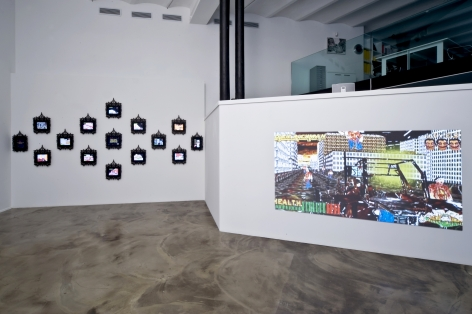 Installation View of Federico Solmi: Douchbag City atSITE Santa Fe 2010 Biennial