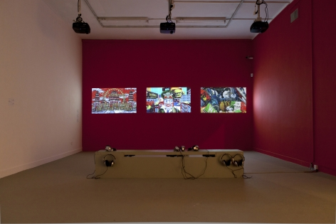Installation image of Federico Solmi: Chinese Democracy and the Last Day on Earth