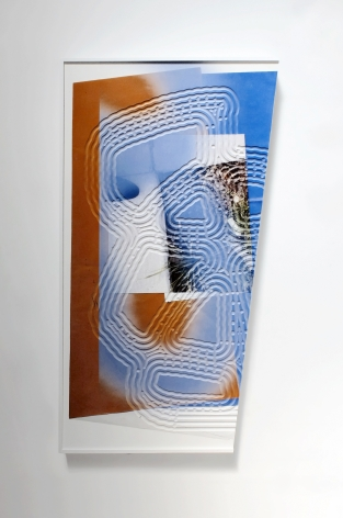 """Kate Bonner, """"Beyond the edge,"""" 2016, Digital pigment print on shaped MDF panel, 55 x 30 x 3 inches"""