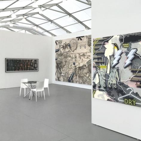 Installation view of Luis De Jesus Los Angeles at UNTITLED Miami 2016, featuring works by Ken Gonzales-Day, Josh Reames, and José Lerma.
