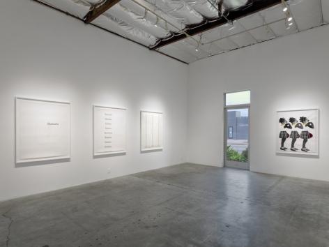Installation View of Deborah Roberts: Fragile But Flexible