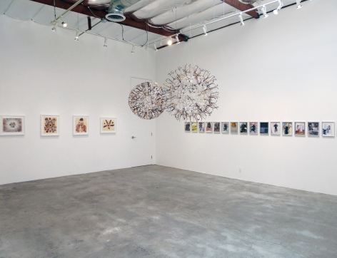 Installation View of Chris Lipomi and Jason Sherry: Works on Paper and Sculpture