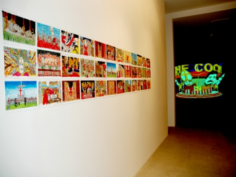 Installation View from Federico Solmi: The Evil Empire