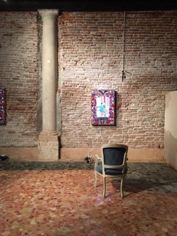 Installation view of Federico Solmi's installation as part ofVitel Tonnéasthe 57th Venic Biennale