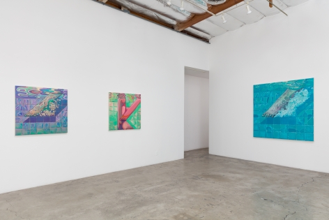 Installation View of Ethan Gill: New Paintings