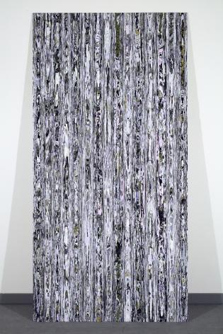 Margie Livngston Rough Cut Paneling, Light, 2013 Acrylic paint on Alupanel 96.5 x 48.5 x 1.5 in