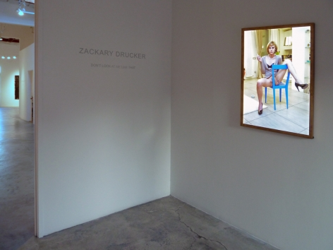 Installation view of Zackary Drucker and Manuel Vason: Don't Look At Me Like That