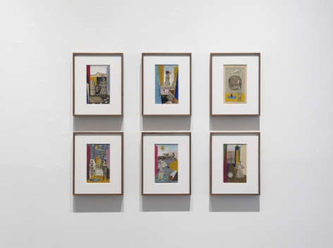 Installation view of Something Else: The Collages of Nathan Gluck