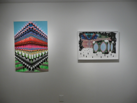 Installation View of Group Show: United States of Color vs. Grand Theft Auto