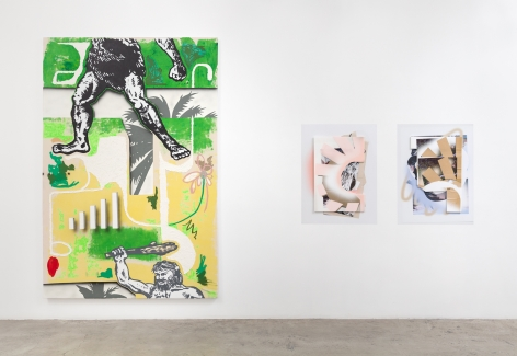 Installation view:  Josh Reames (L), Kate Bonner (R)