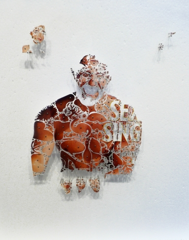Installation View of David Adey: I've got a river of life flowing out of me