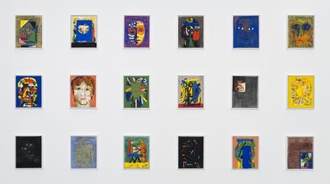 Erik Olson 18 Dusseldorf Paintings, installation, 2017