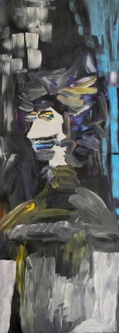 Edie Beaucage  Sid Chumbly, 2016  Acrylic on paper 48 x 18 in.