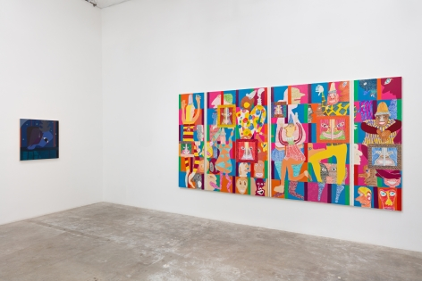 Installation view:  Alexandria Smith (L), Peter Williams (R)
