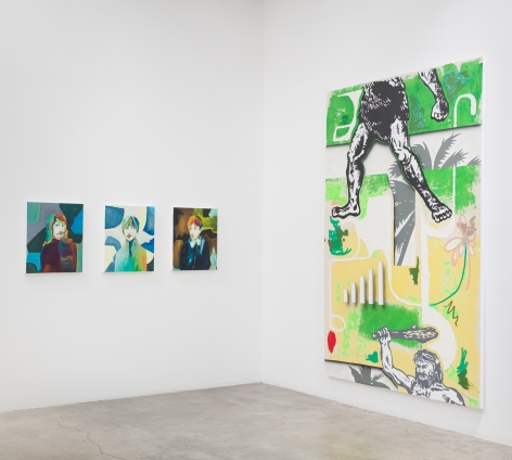 Installation view:  Edith Beaucage (L), Josh Reames (R)