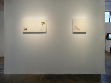 Installation View of Mark Mulroney: Nude Drum Solo