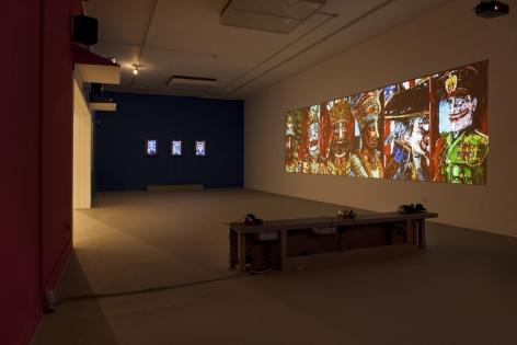 Installation image of Federico Somli: American Circus