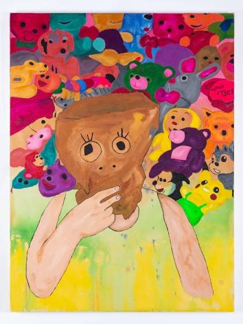 Karla Diaz, Self Portrait with Toys, 2021, Acrylic on canvas