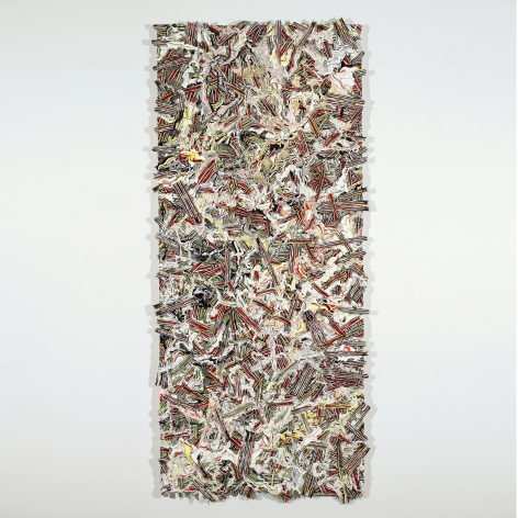 Margie Livingston Multi-coloreed Pour on Waferboard, 2013