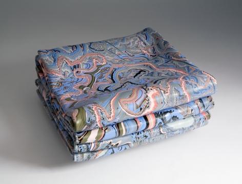 Margie Livingston Folded Painting with Blue and Orange, 2014