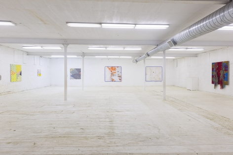 Installation view of Lost and Proud