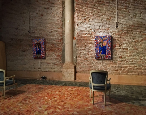 Installation view of Federico Solmi's installation as part ofVitel Tonné asthe 57th Venic Biennale
