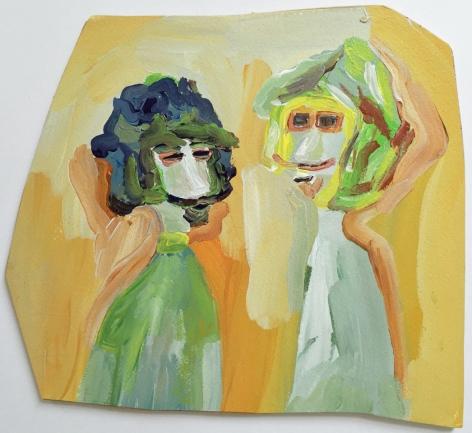 Edie Beaucage Basil & Zeek, 2016 Acrylic on paper mounted on wood 9.5 x 8.5 in.