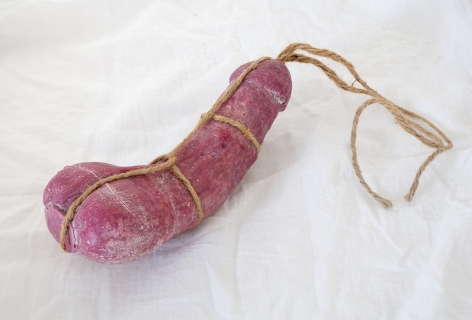 Miyoshi Barosh, Untitled Penis, glass sculpture bound in twine from 2015