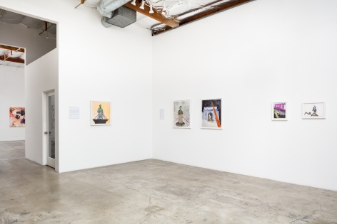 Installation View ofUnreachable Spring: Kambui Olujimi and André Hemer (rear)