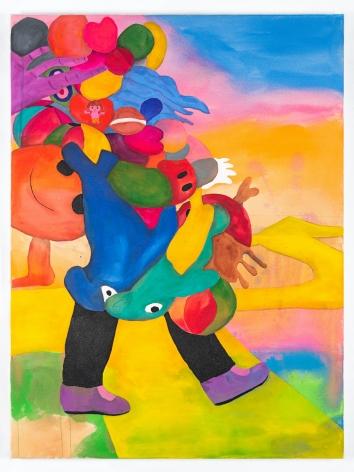 Karla Diaz, Balloon Legs II, 2021, Acrylic on canvas