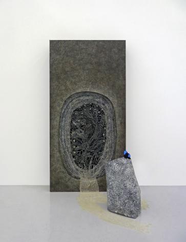 Nena Amsler Bausi (Vapor), 2010 Extruded acrylic and acrylic on canvas 72 x 36 x 39 in.