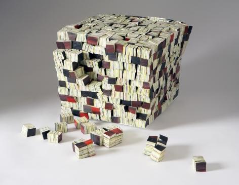 Margie Livingston Crumpling Block of Blocks, 2013