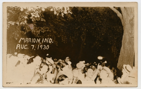 Ken Gonzalez-Day Lynching of Thomas Shipp and Abraham S. Smith, Marion, IN 1930  Erased Lynchings Set III, 2006-2019 Archival injet print on rag paper mounted on cardstock 6 x 4.5 in.