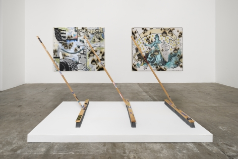 Installation View of Josh Reames: Don't Cross Streams While Trading Horses