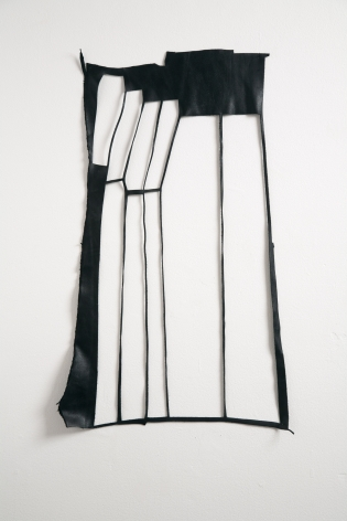 Margie Livingston Stretch,2016 Leather and pins ​35 x 15 in.