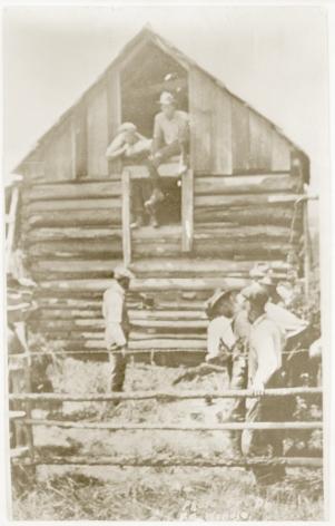 Ken Gonzalez-Day Men preparing to lynch African American, c. 1920-1940
