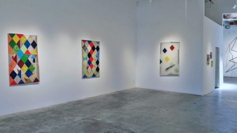 Installation View of Matt Carter: hellequinharlequinclown