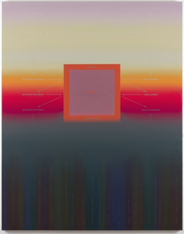 Nicolas Grenier  Empty Template, 2013 Oil and acrylic on canvas  60 x 48 in.