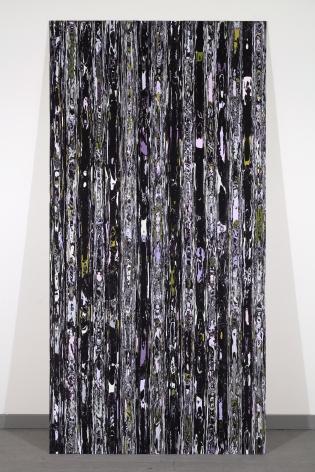 Margie Livingston Rough Cut Paneling, Dark, 2013 Acrylic paint on Alupanel 96.5 x 48.5 x 1.5 in.