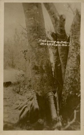 Ken Gonzalez-Day Lynching of Mexican, Mazatlan?, n.d.  Erased Lynchings Set III, 2006-2019 Archival injet print on rag paper mounted on cardstock 6 x 4.5 in.